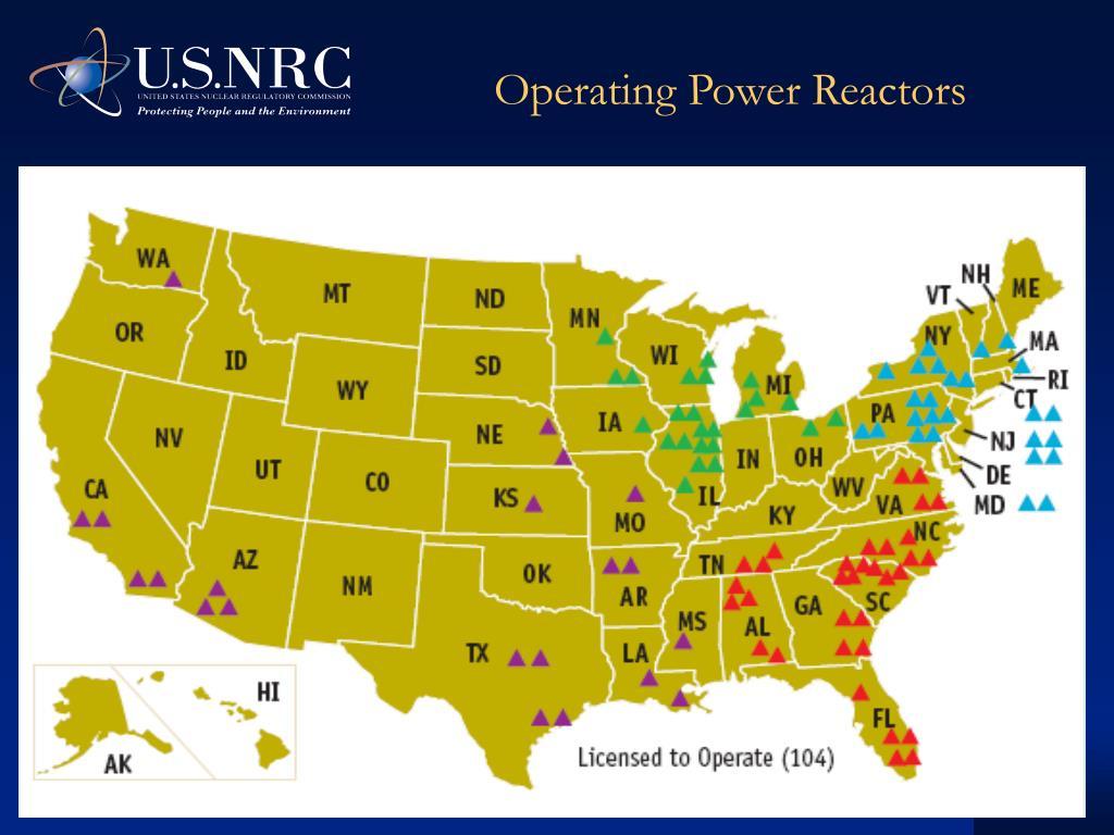 Operating Power Reactors