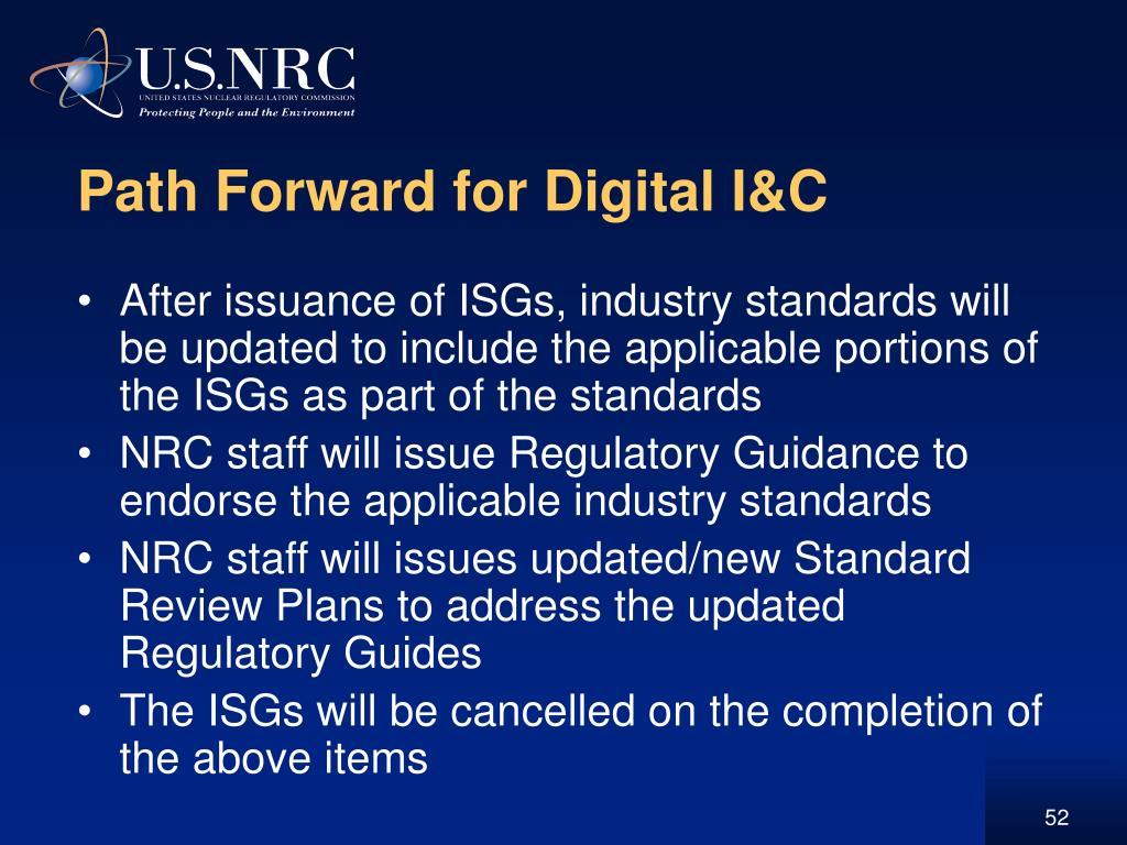 Path Forward for Digital I&C