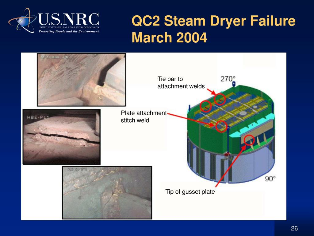 QC2 Steam Dryer Failure