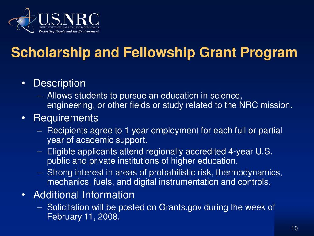 Scholarship and Fellowship Grant Program