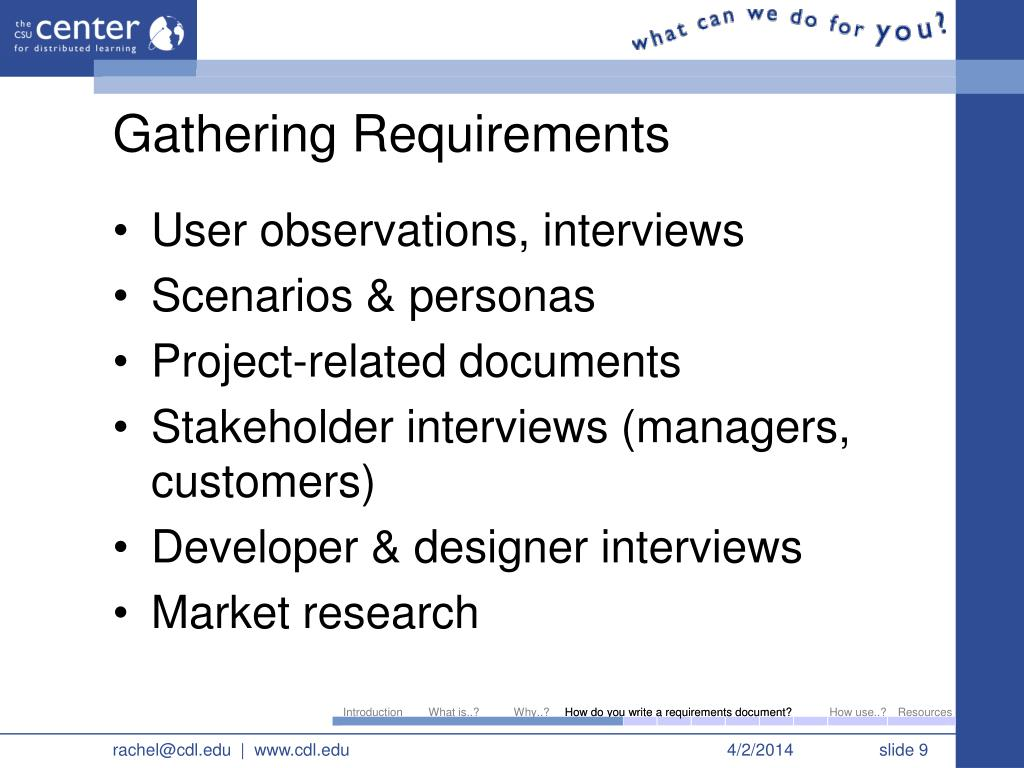 software development requirements gathering template - ppt writing a requirements document for multimedia and