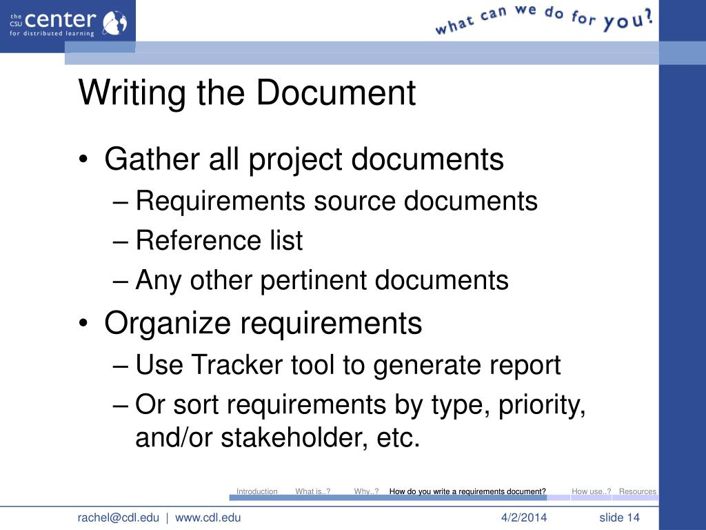 how to write a project documentation