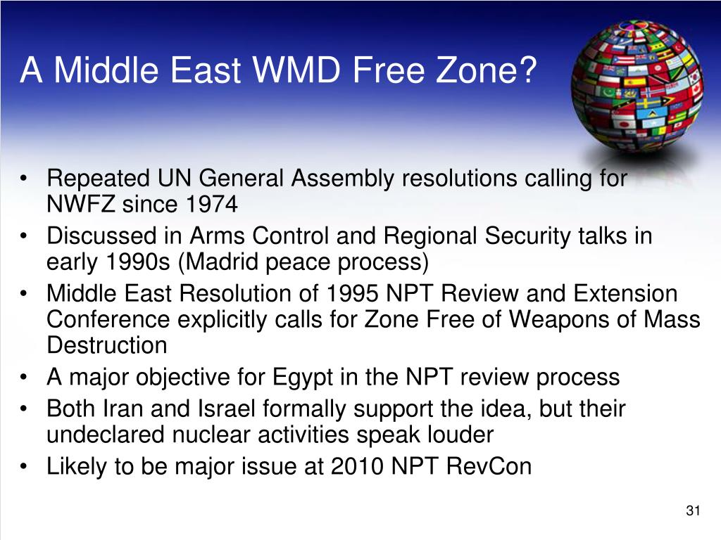 A Middle East WMD Free Zone?