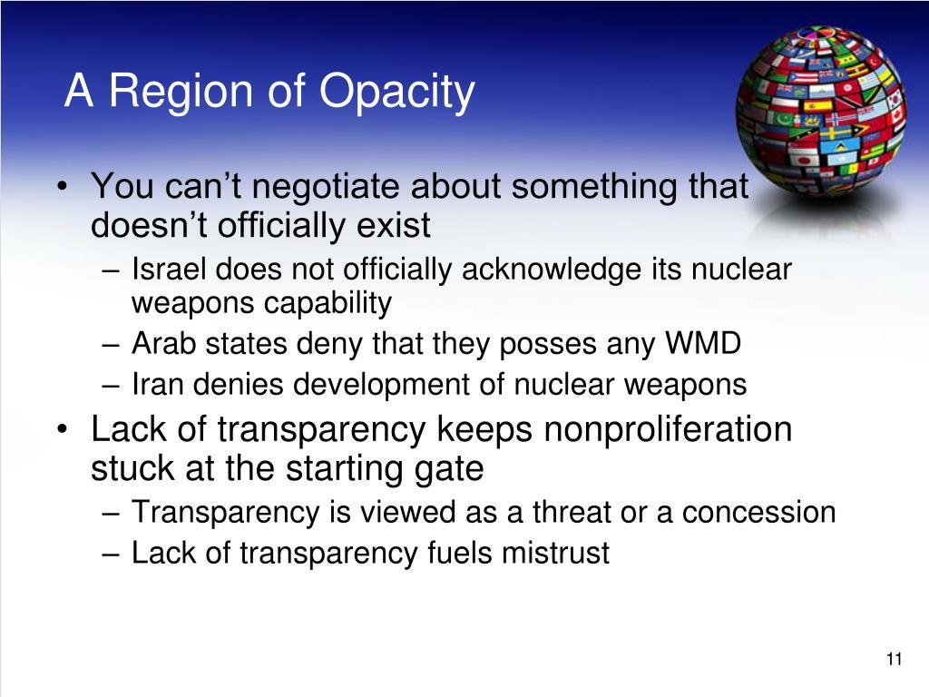 A Region of Opacity