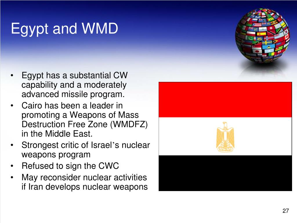 Egypt and WMD