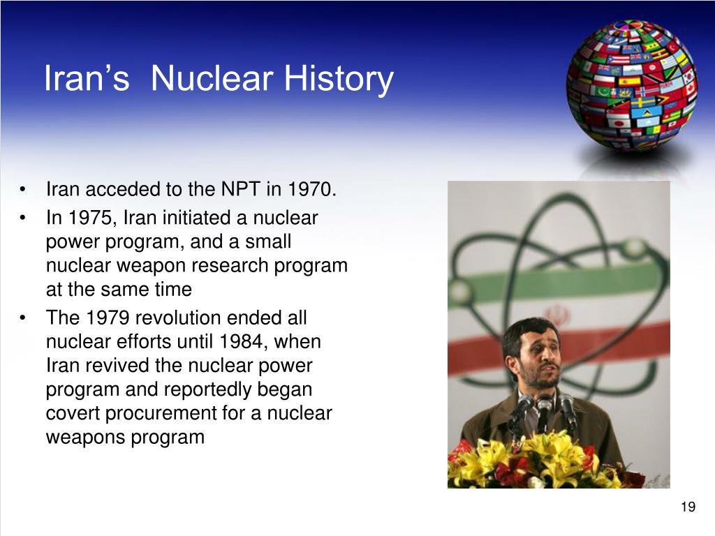 Iran's  Nuclear History