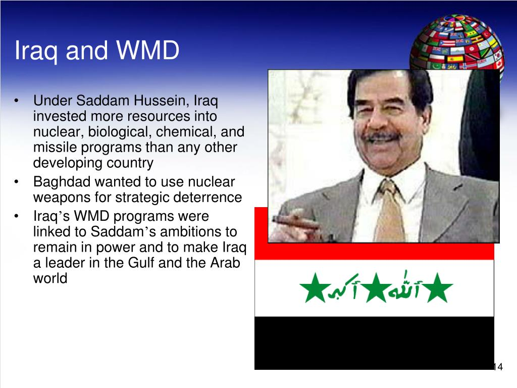 Under Saddam Hussein, Iraq invested more resources into nuclear, biological, chemical, and missile programs than any other developing country