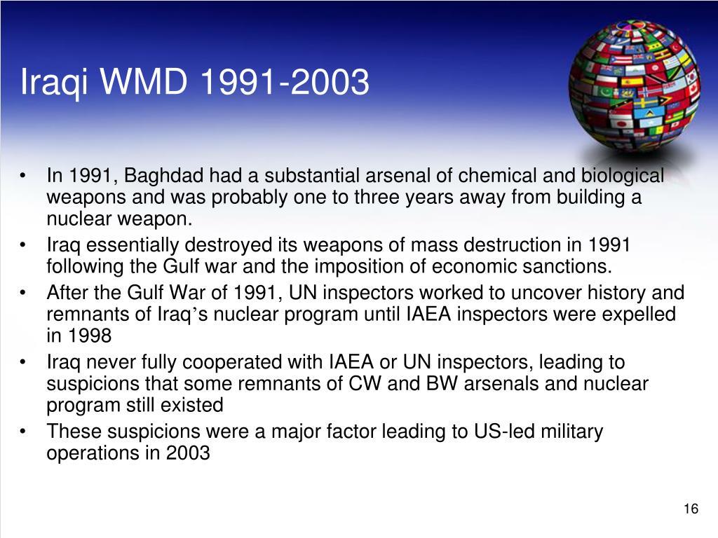 Iraqi WMD 1991-2003