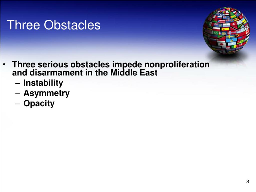 Three Obstacles