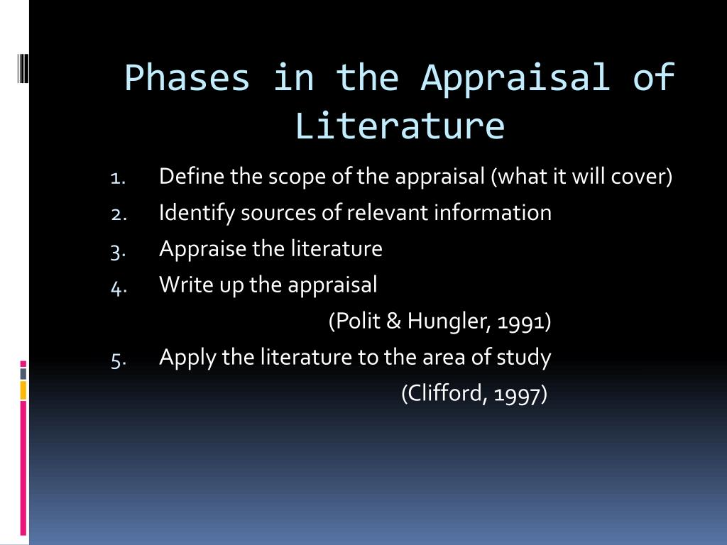 Phases in the Appraisal of Literature