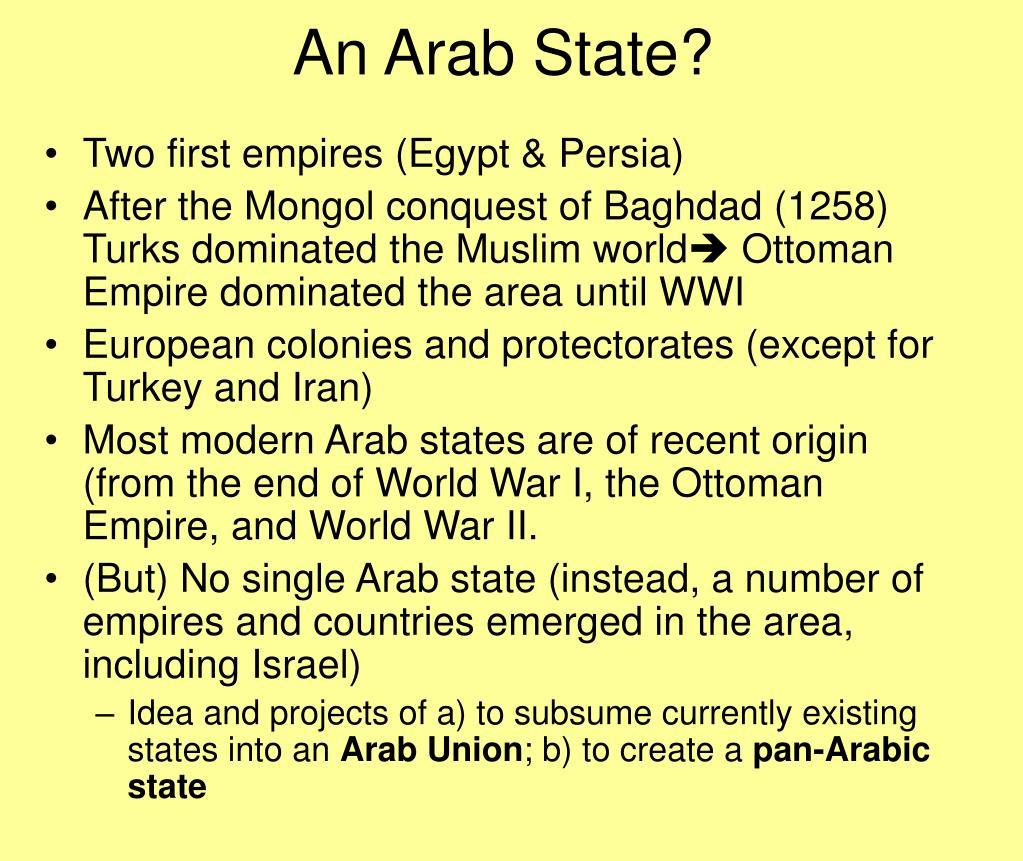 An Arab State?