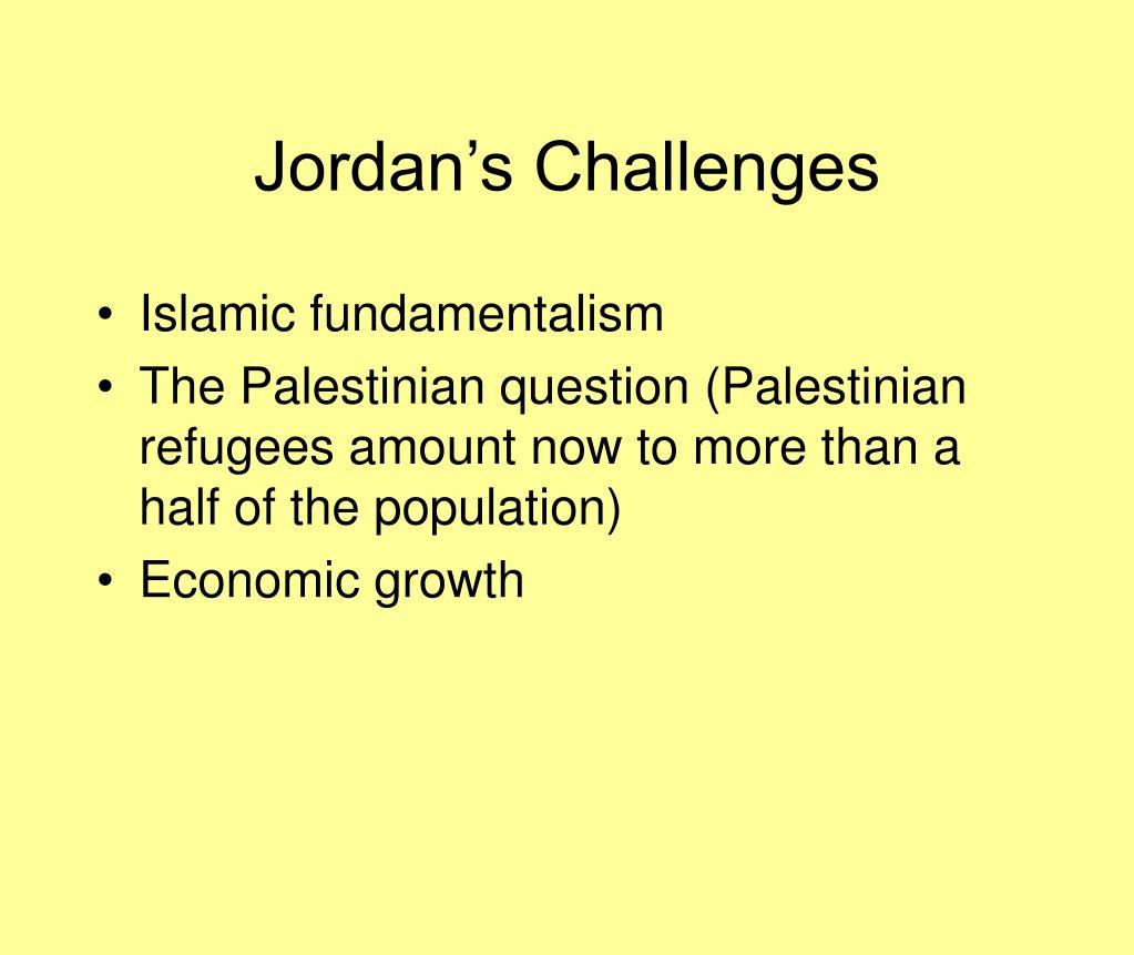 Jordan's Challenges