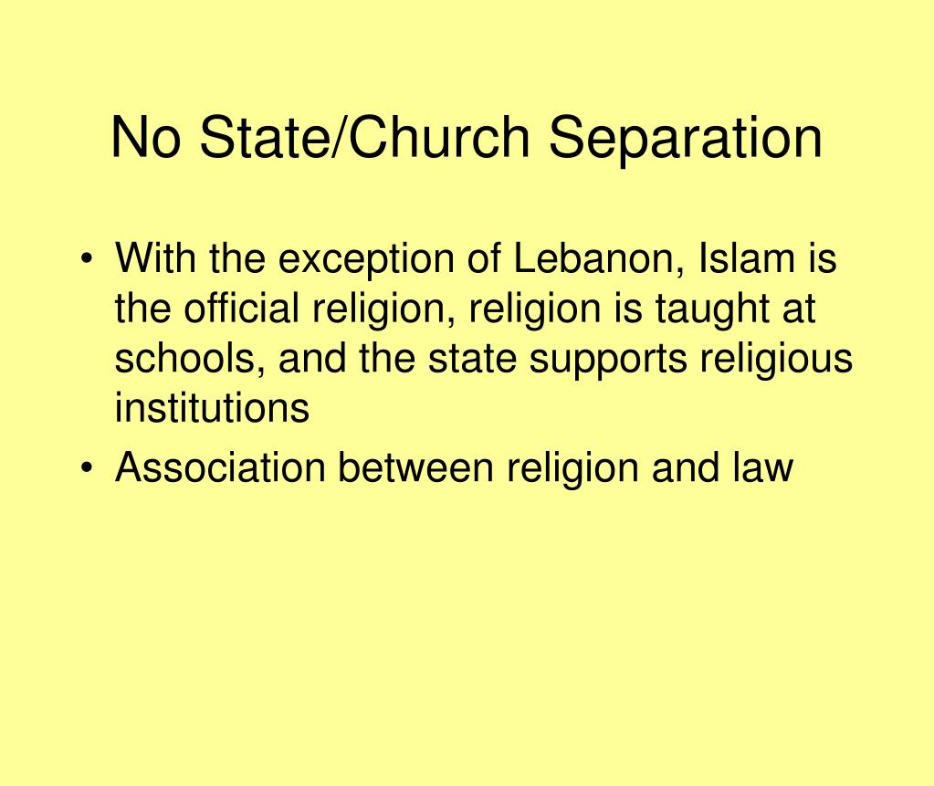 No State/Church Separation