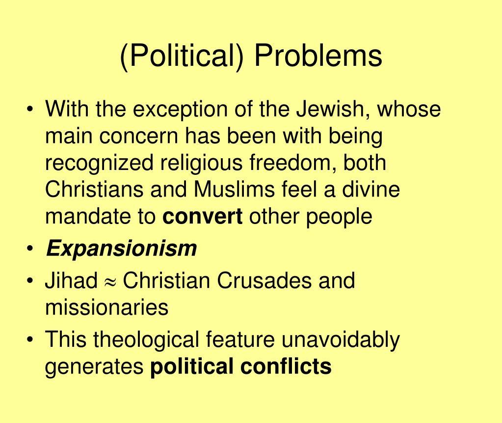 (Political) Problems