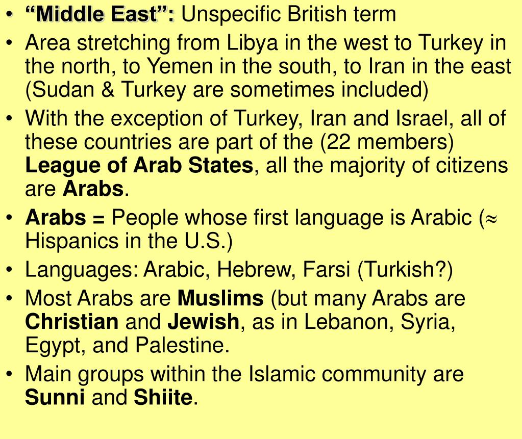"""""""Middle East"""":"""