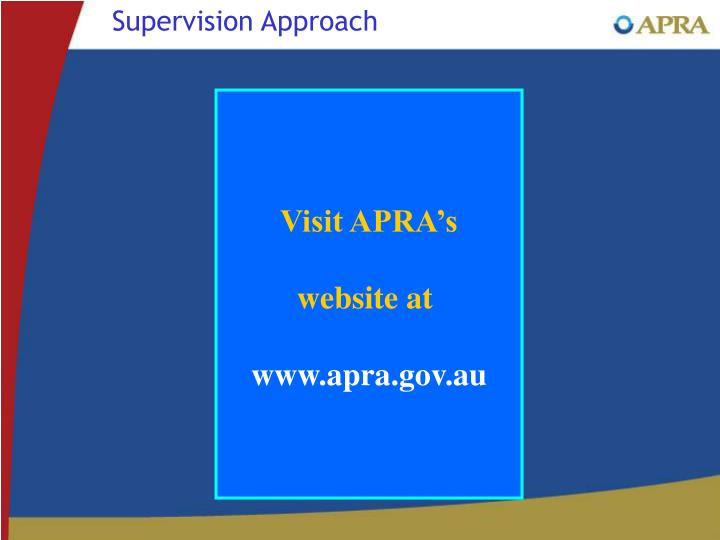 Supervision Approach