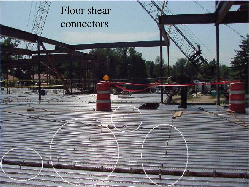 Floor shear connectors