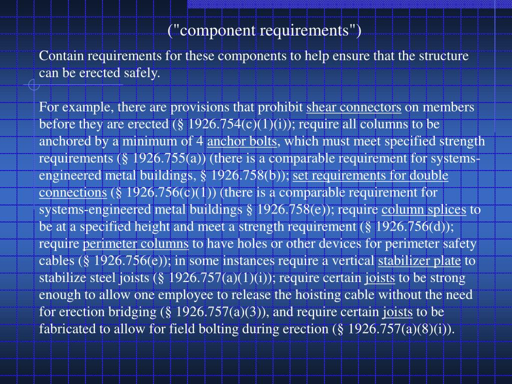"(""component requirements"")"