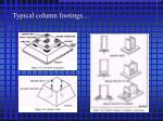 typical column footings