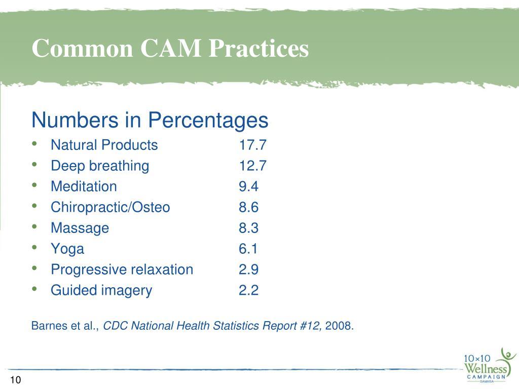 Common CAM Practices
