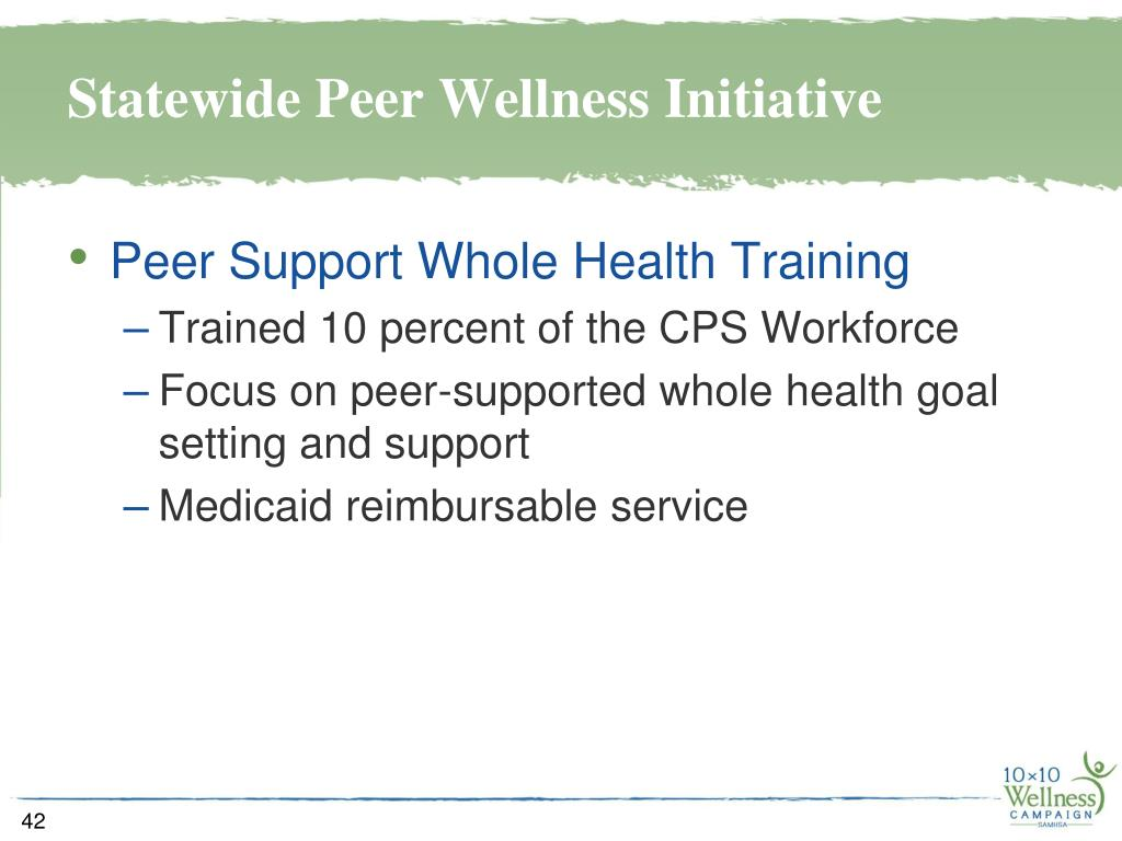 Statewide Peer Wellness Initiative