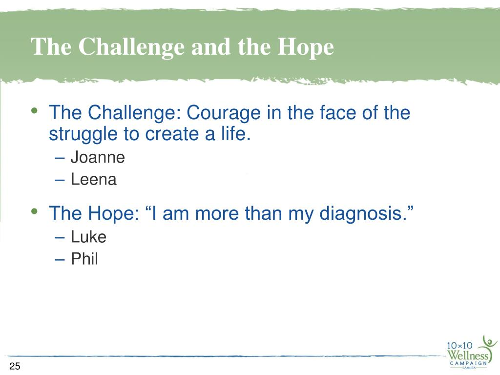 The Challenge and the Hope