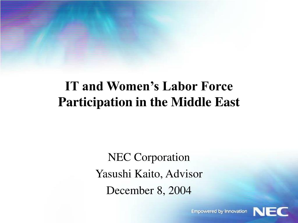 IT and Women's Labor Force