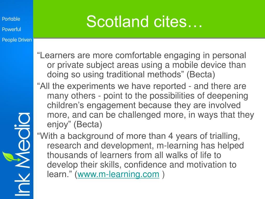 Scotland cites…