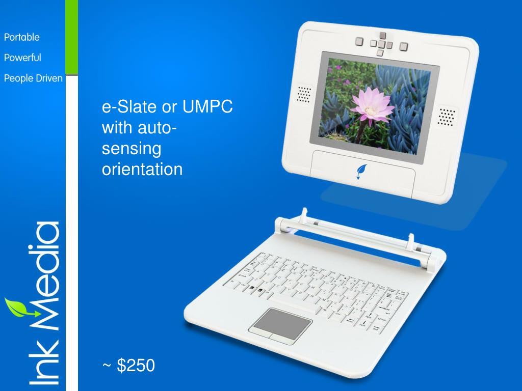 e-Slate or UMPC with auto-sensing orientation