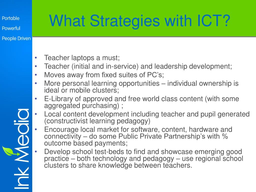 What Strategies with ICT?