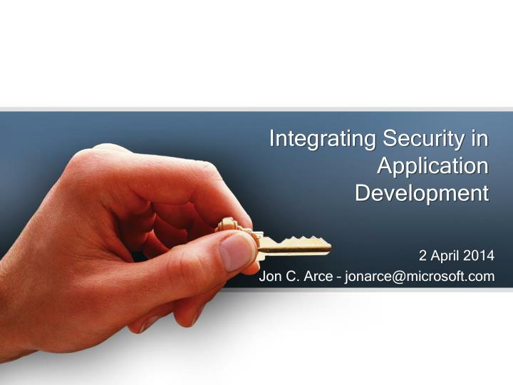 Integrating security in application development