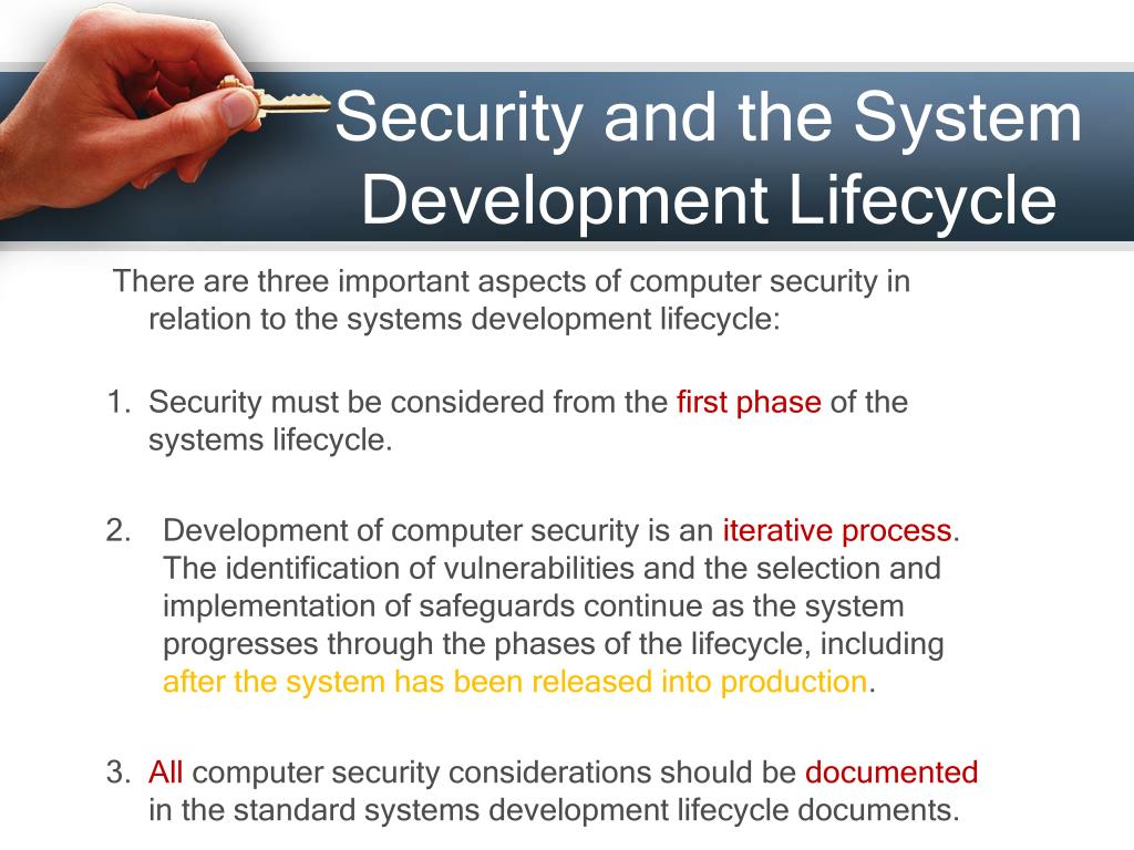 Security and the System Development Lifecycle