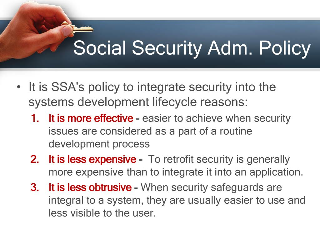 Social Security Adm. Policy
