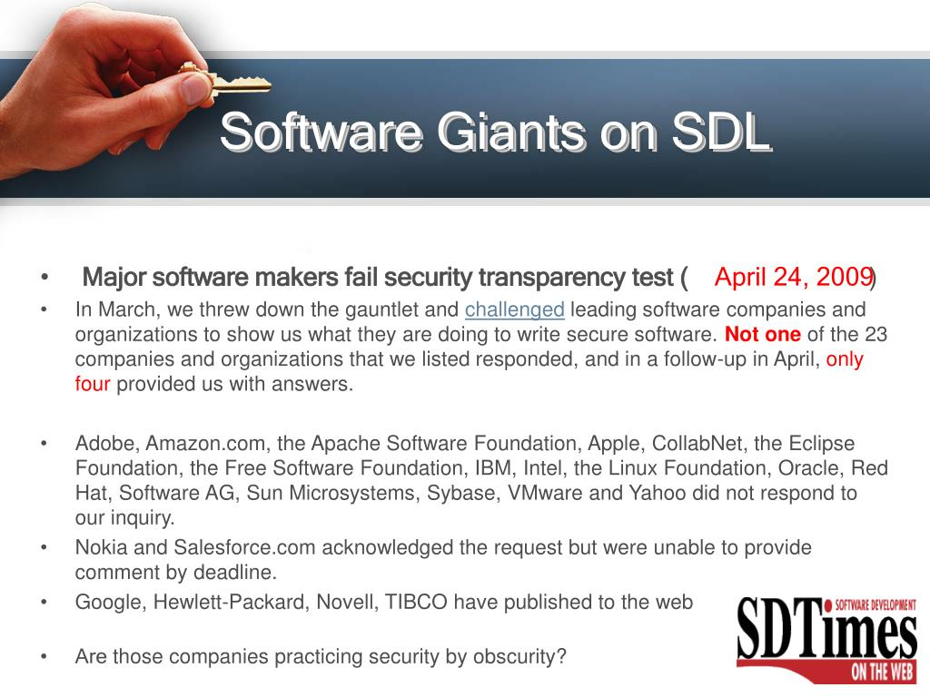 Software Giants on SDL