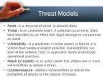 threat models