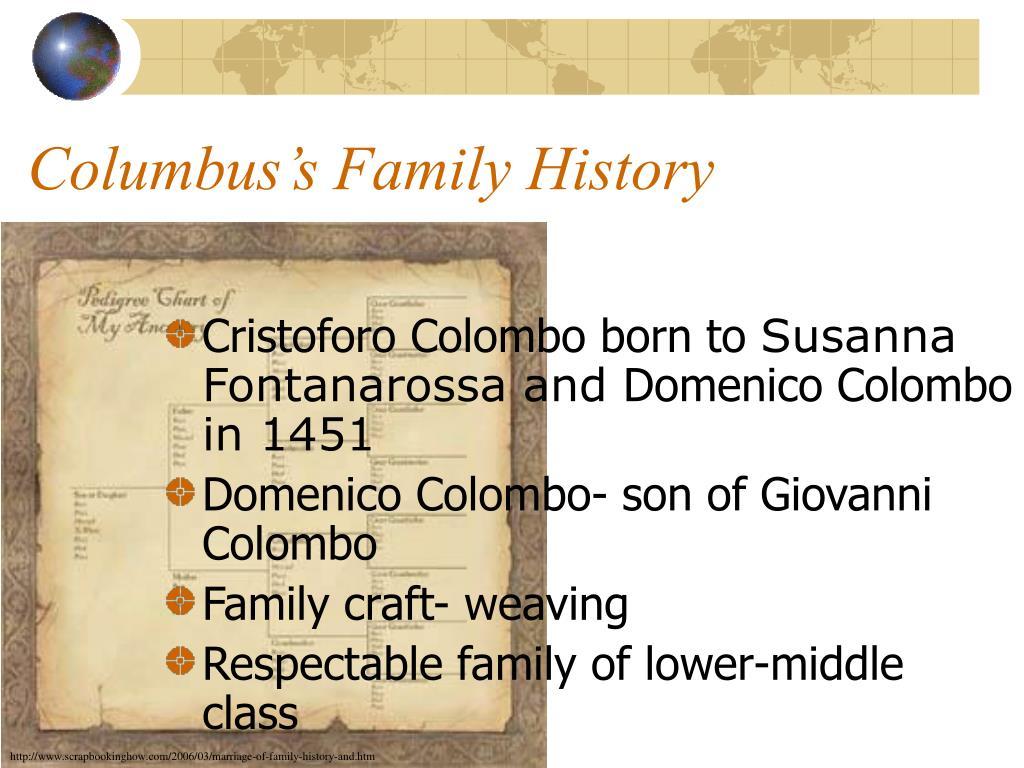 Columbus's Family History