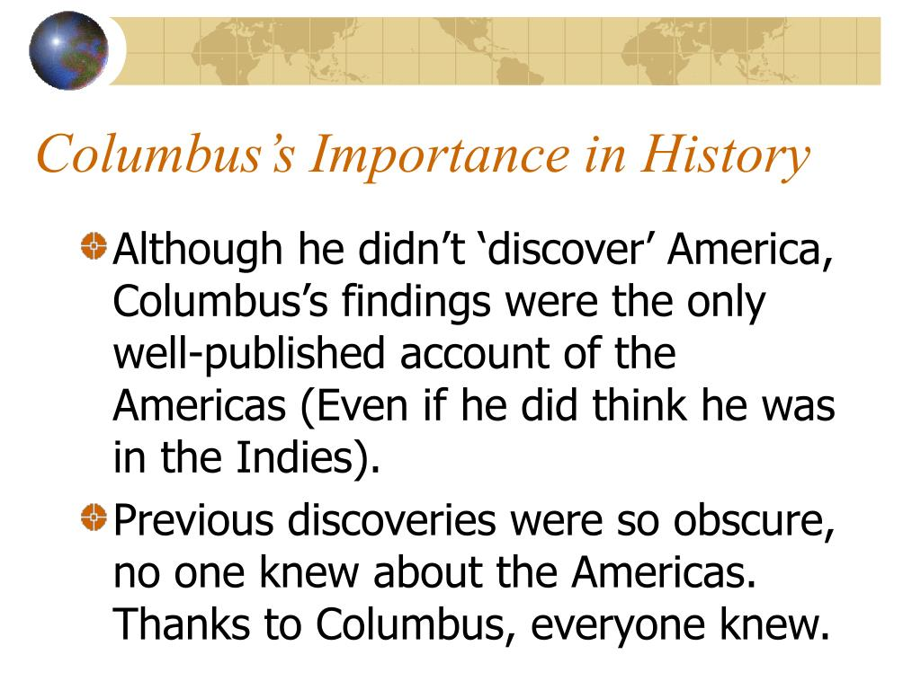 Columbus's Importance in History