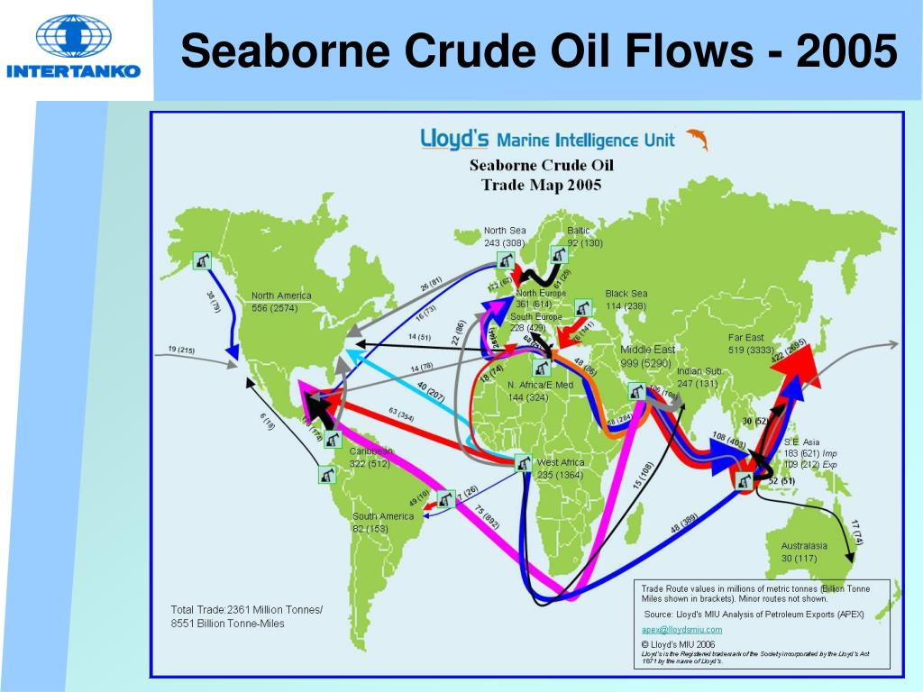 Seaborne Crude Oil Flows - 2005