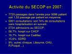 activit du secop en 2007