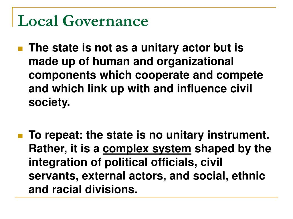 Local Governance