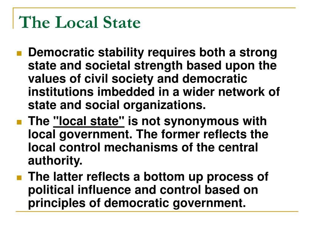 The Local State