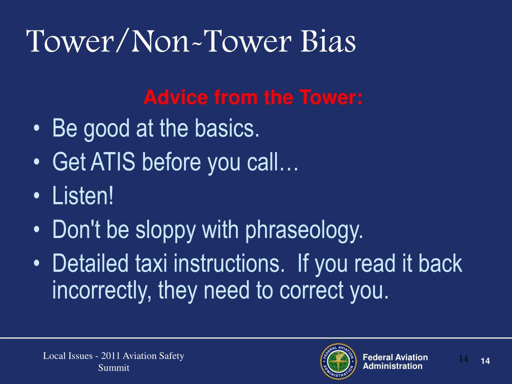 Advice from the Tower: