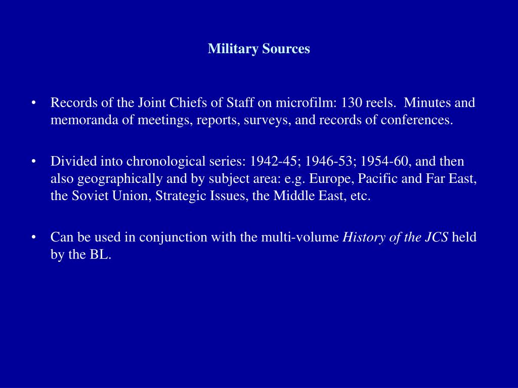 Military Sources