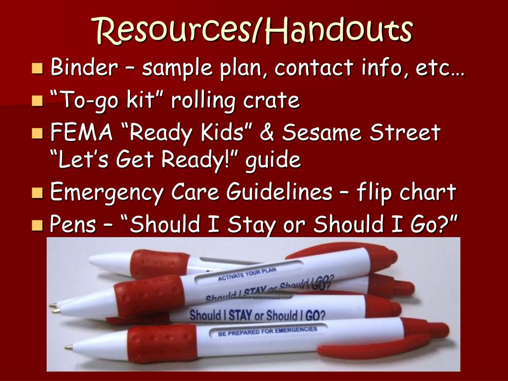 Resources/Handouts