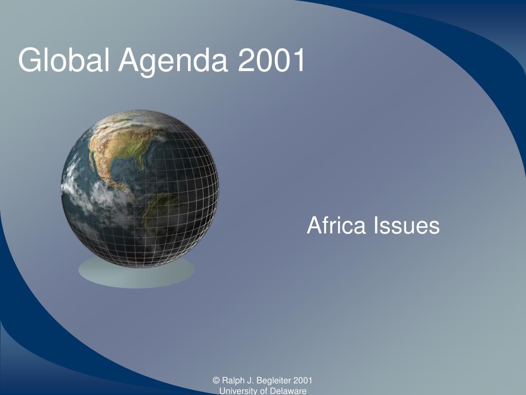 global agenda 2001