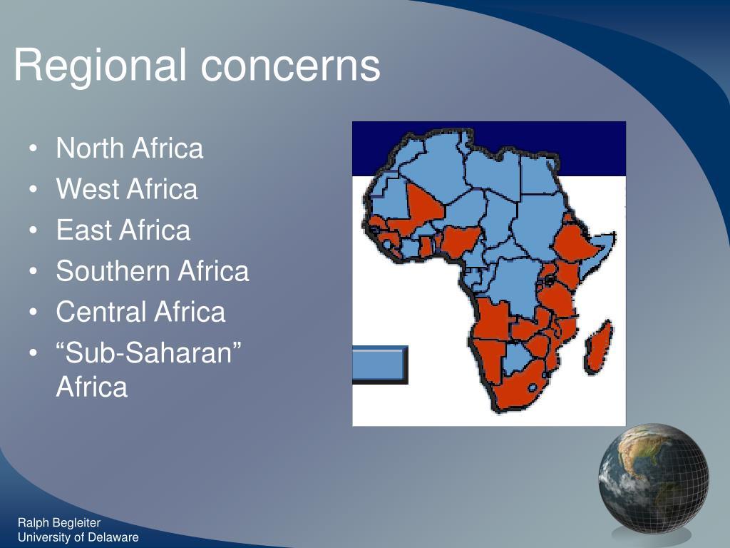 Regional concerns
