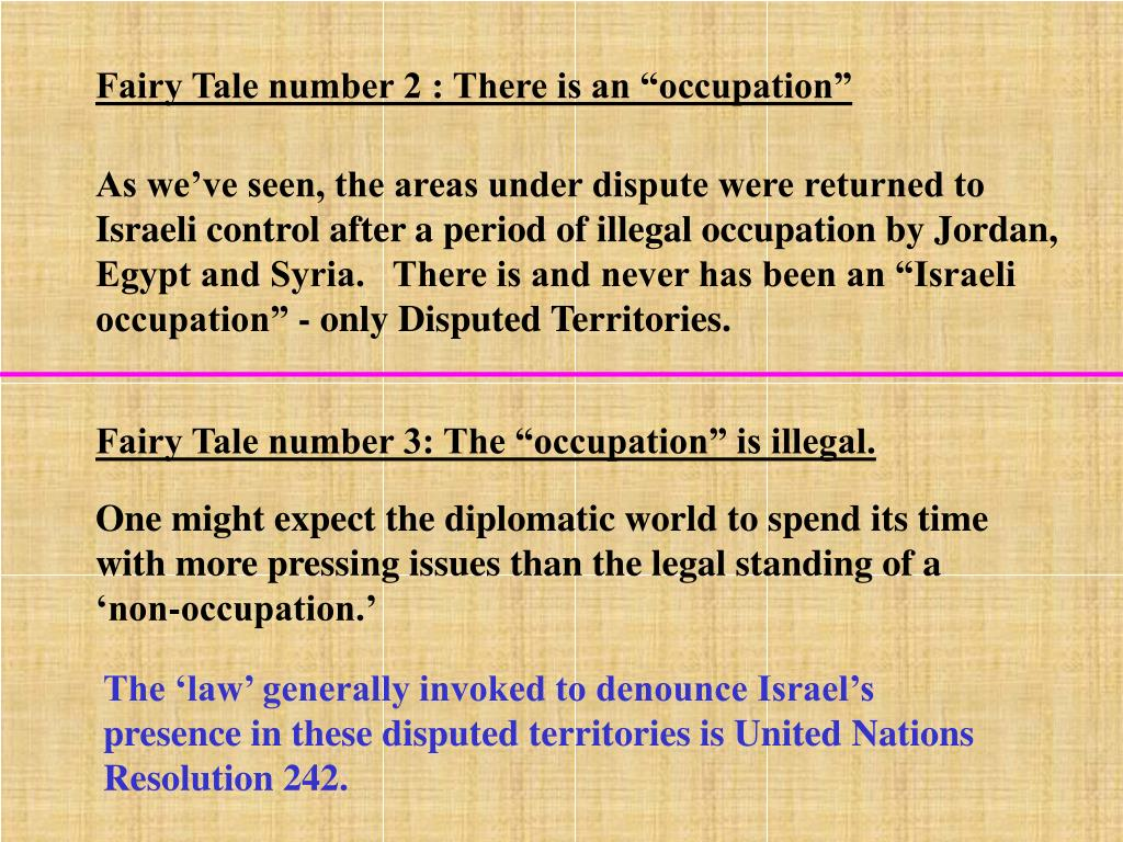 "Fairy Tale number 2 : There is an ""occupation"""