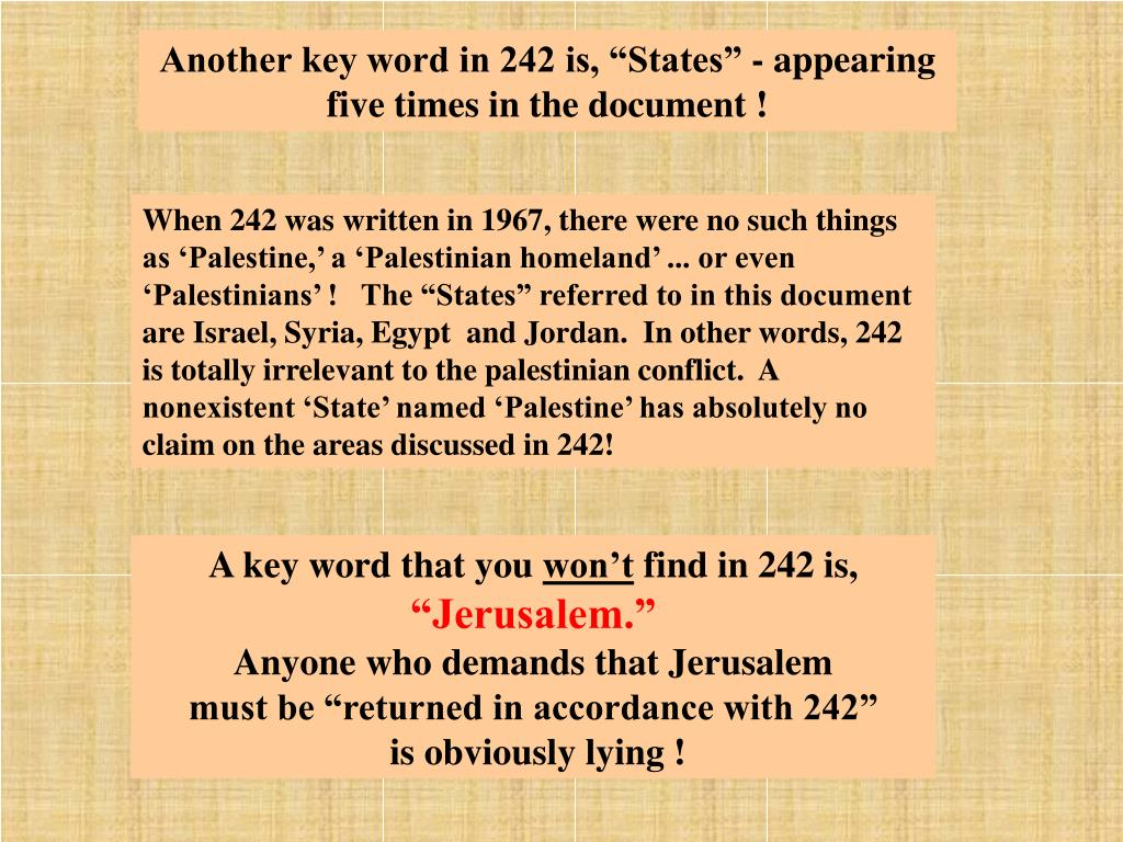 "Another key word in 242 is, ""States"" - appearing"