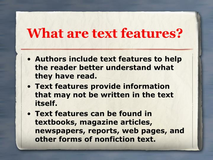 What are text features l.jpg
