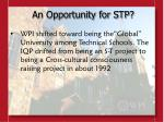 an opportunity for stp5